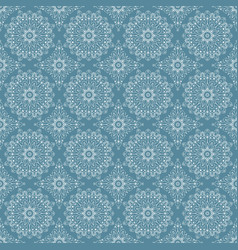 Pattern with circular ornaments vector