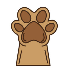 Paw mascot isolated icon vector