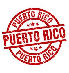 Puerto rico red round grunge stamp vector