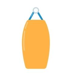 Punching bag flat vector image
