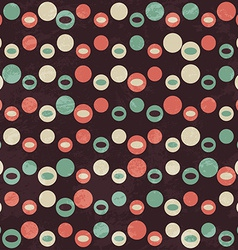 retro brown circle seamless pattern vector image
