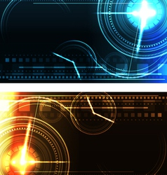 stylized glowing backgrounds in wide-screen format vector image vector image