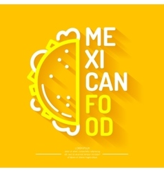 The logo of mexican food vector