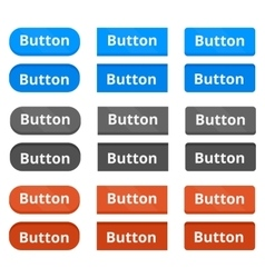 Three buttons variations vector