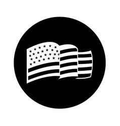 usa flag isolated icon vector image vector image