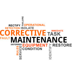 word cloud - corrective maintenance vector image