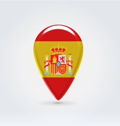Spanish icon point for map vector
