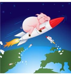 swine flu hen vector image