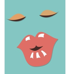 Woman face retro vector