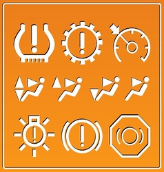 Automotive indicators vector