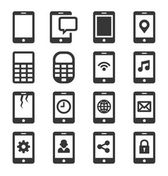 Phone and communication icon set vector