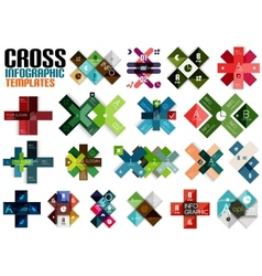 Huge set of cross infographic templates 2 vector