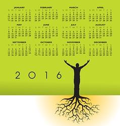 2016 tree roots man cal vector