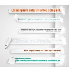 Paper bookmarks for text pieces vector