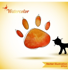 With next cat vector