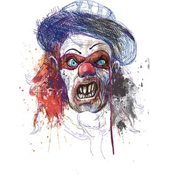 Spooky clown vector