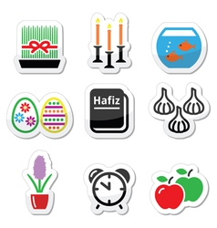 Nowruz - persian new year icons set vector