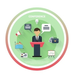 Concept for business conference and presentation vector