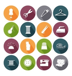 Tailor icons for sewing vector