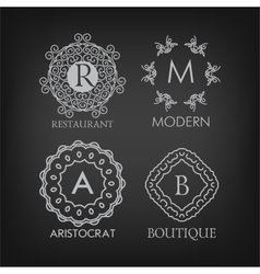 Set of luxury simple and elegant monogram designs vector