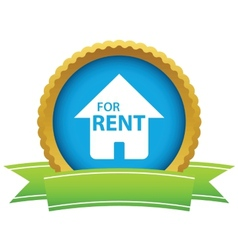 Gold for rent logo vector