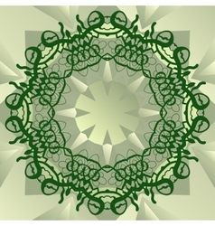 Green stylized mandala blank center for ext banner vector