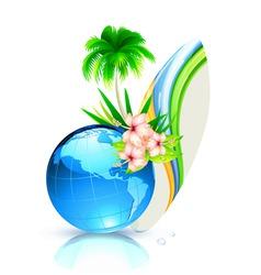 world summer vector image