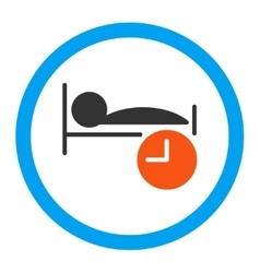 Sleep time rounded icon vector
