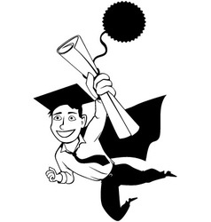 Male graduate clipart vector