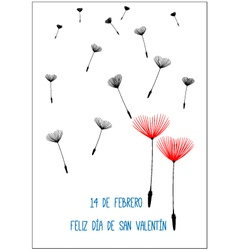 Spanish Valentine background vector image