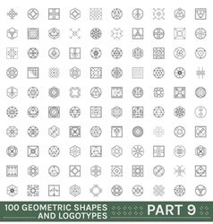 Set of 100 geometric hipster shapes vector