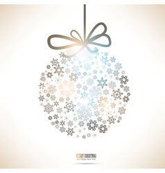 Christmas snowflake bauble vector