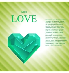 Abstract valentine heart gem vector