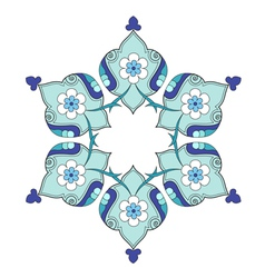 Artistic ottoman pattern series nine vector
