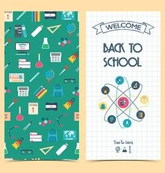 Bilateral vertical school flyer brochure banner vector