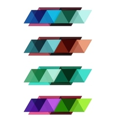 Blank triangle infographic backgrounds vector