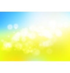 Bokeh blur romantic blue yellow backdrop for eco vector