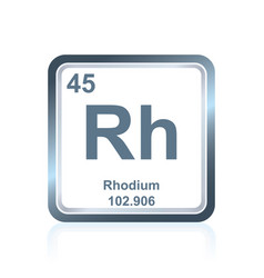 Chemical element rhodium from the periodic table vector