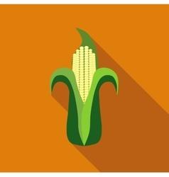 Corn cob icon flat style vector