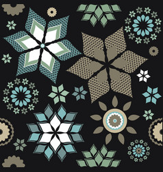 decorative pattern with contrast elements and vector image vector image