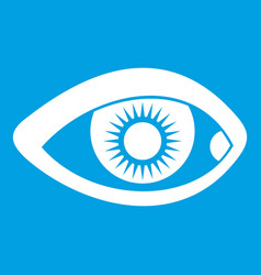 Eye icon white vector
