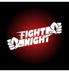 Fight night mma wrestling fist boxing championship vector