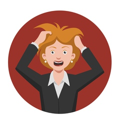 frustrated woman vector image vector image