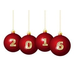 Glass Christmas Balls 2016 vector image vector image