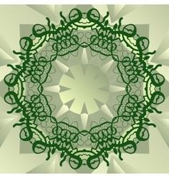 Green stylized mandala blank center for ext banner vector image vector image