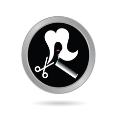hair salon icon vector image vector image