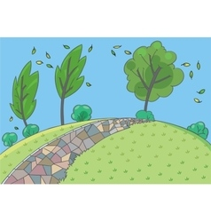 Landscape background children vector