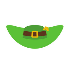 leprechaun hat green isolated national irish vector image vector image