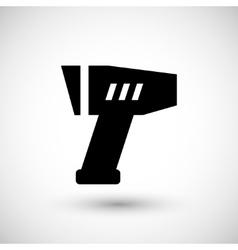 Modern pyrometer icon vector