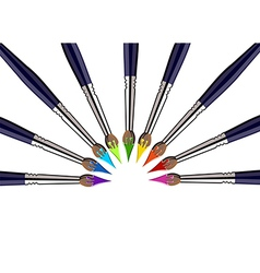 Paint brushes background vector image